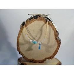 Turquoise pompon jewel - A...