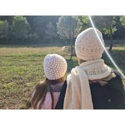 Bonnet et écharpe femme-...