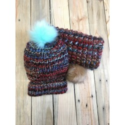Bonnet et snood en laine...