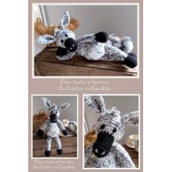 Donkey blankie handmade,...