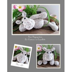 Hippo blankie - handmade,...