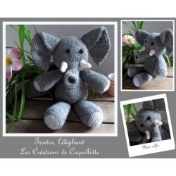 Doudou éléphant fait main,...